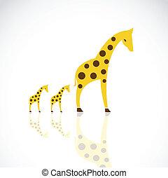 Vector image of an giraffe design
