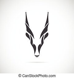Vector image of an goat head (Goral) on white background