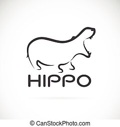 Vector image of an hippo design on white background.