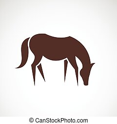 Vector image of an horse design on white background