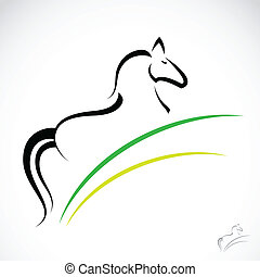 Vector image of an horse - Vector image of an horse on white...