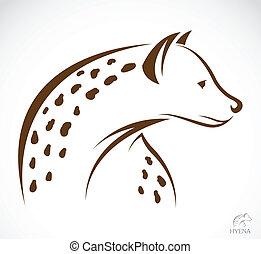 Vector image of an hyena