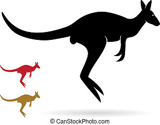 Vector image of an kangaroo on a white background