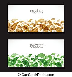 Vector image of an leaves design.