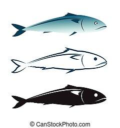 Vector image of an mackerel design on white background., Mackerel Icon., Vector mackerel for your design.