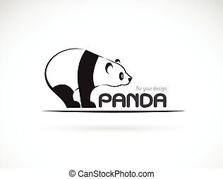 Vector image of an panda design on a white background