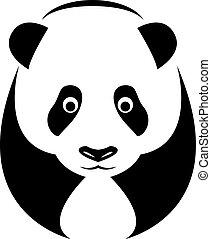 Vector image of an panda
