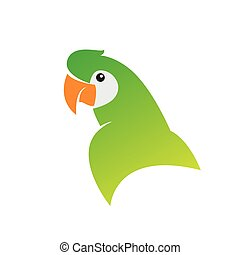 Vector image of an parrot designs on white background