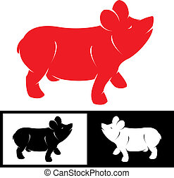 Vector image of an pig
