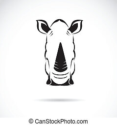 Vector image of an rhinoceros head