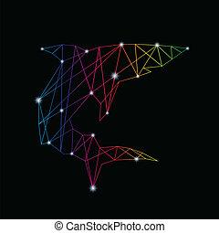 Vector image of an shark design