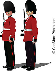 Vector image of beefeater isolated