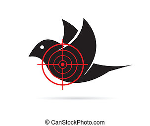 Vector image of bird target on a white background.