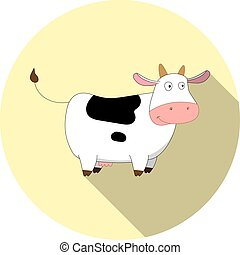 Vector image of cartoon cow