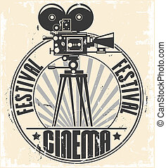 Cinema festival stamp. - Vector image of Cinema festival ...