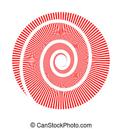 Vector image of circle and spiral - Vector image of circle...