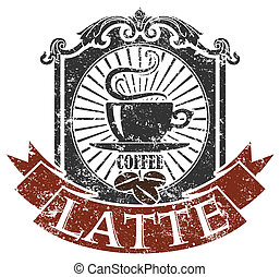 Coffee stamp  - Vector image of Coffee stamp