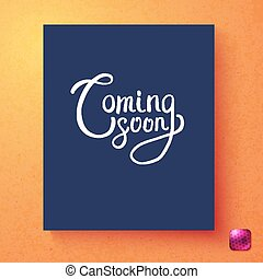 Vector image of Coming soon announcement card template -...