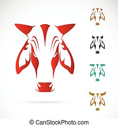 Vector image of cow head on white background