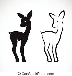 Vector image of deer on white background