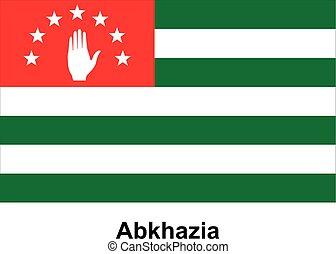 Vector image of flag Abkhazia