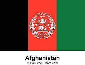 Vector image of flag Afghanistan