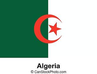 Vector image of flag Algeria