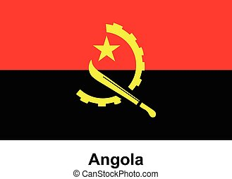 Vector image of flag Angola