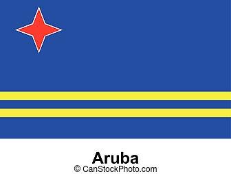 Vector image of flag Aruba