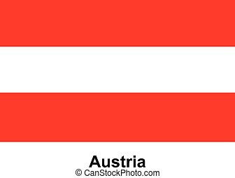 Vector image of flag Austria