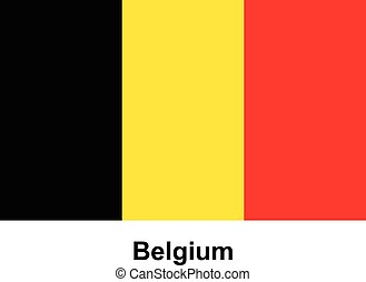 Vector image of flag Belgium