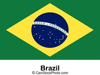 Vector image of flag Brazil