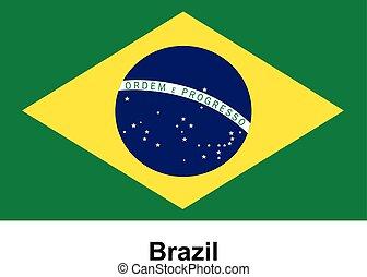 Vector image of flag Brazil