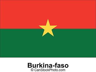 Vector image of flag Burkina-faso
