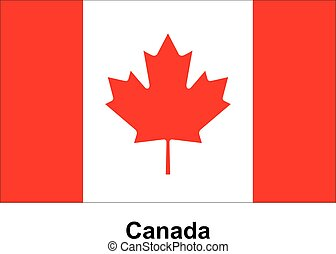 Vector image of flag Canada