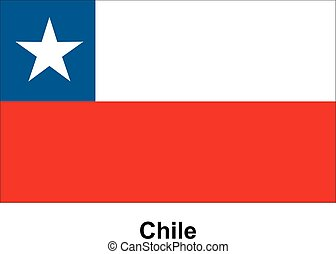 Vector image of flag Chile