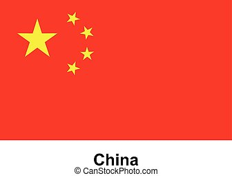 Vector image of flag China