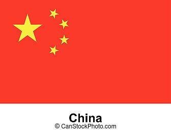 Vector image of flag China