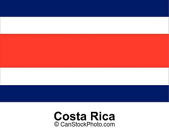 Vector image of flag Costa Rica