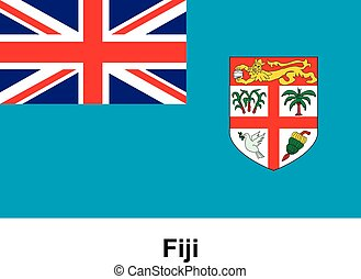 Vector image of flag Fiji