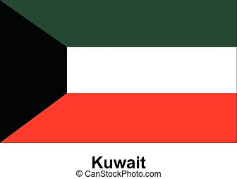 Vector image of flag Kuwait