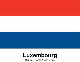 Vector image of flag Luxembourg