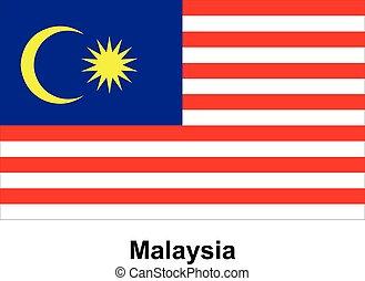 Vector image of flag Malaysia