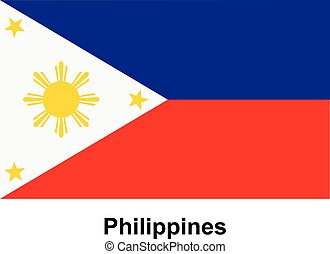 Vector image of flag Philippines