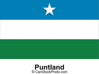 Vector image of flag Puntland