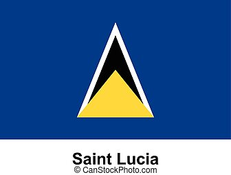 Vector image of flag Saint Lucia