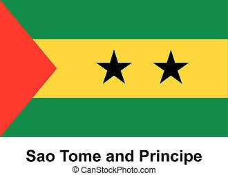 Sao Tome and Principe - Vector image of flag Sao Tome and...