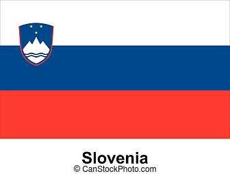 Vector image of flag Slovenia