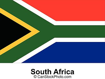 Vector image of flag South Africa