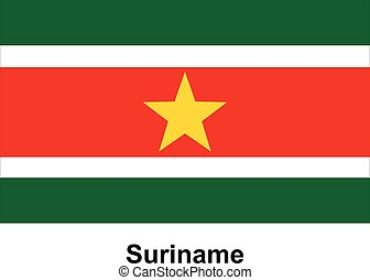 Vector image of flag Suriname